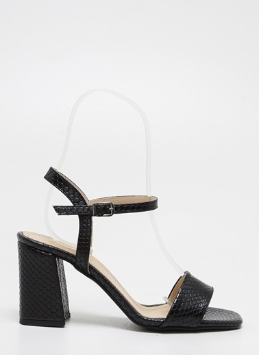 F By Fabrika F By Fabrika Rayne Çok Renkli Kadın Kalın Topuklu Ayakkabı Siyah